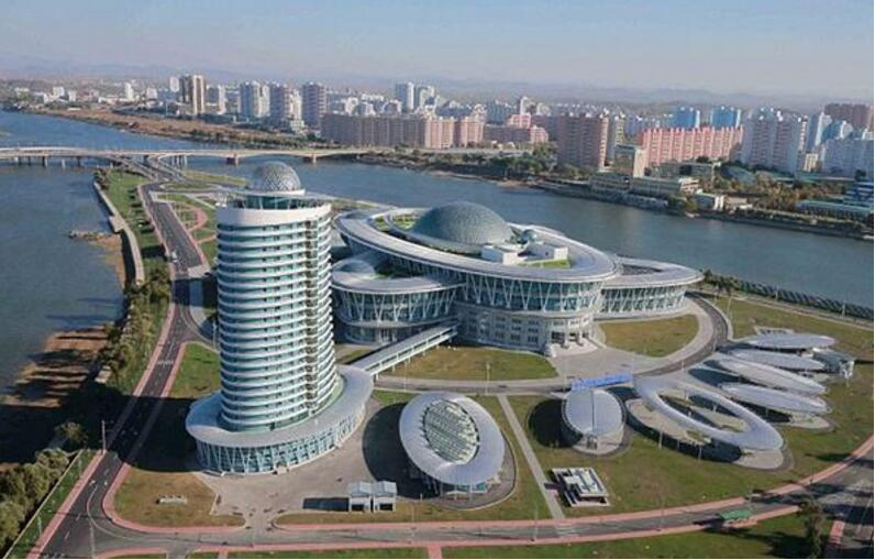 The Palace Of Science And Technology In Pyongyang